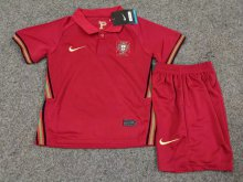 2020 Euro Portugal home kids jersey