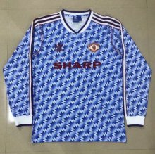 * Manchester United 1990-1992 Retro away Long Sleeves jersey