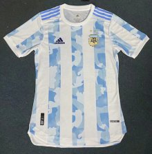 * 2020-21 Argentina home Player Version jersey