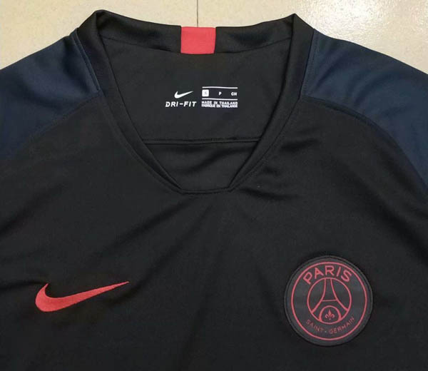 e50904fca9e ... 19 PSG Jordan black training jersey. Hover to zoom | Click to enlarge